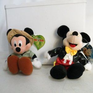 Disney on Ice Lot of 2 Mickey Mouse Plush